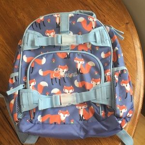 Pottery Barn mini named backpack
